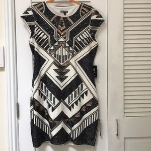 Express short sleeve Sequin Sheath Dress size L